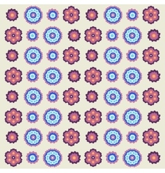 vintage flowers pattern in retro colors vector image