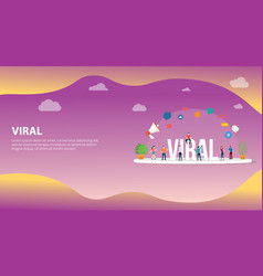 viral social media information content with team vector image