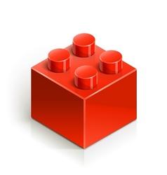Brick meccano toy vector