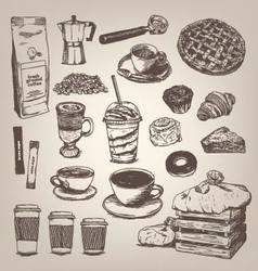 Coffee shop vintage design element vector image