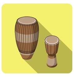 Flat icon musical instrument tam-tam vector image vector image