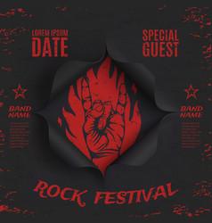 Grunge rock festival background template vector