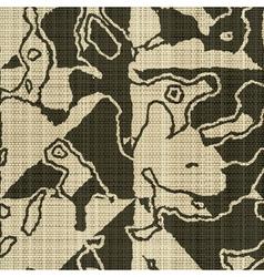 rough edges textile print vector image