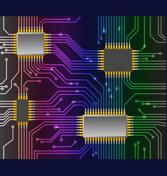 Seamless chip background vector image