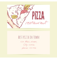 Business card templates with different doodle vector image vector image