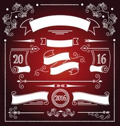 Christmas ribbons set vector image vector image
