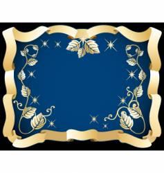 decorative ribbon frames vector image vector image