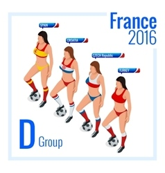 European football championship in France Group D vector image vector image
