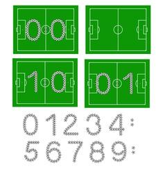 football scores vector image vector image
