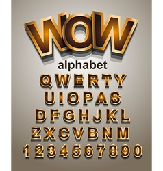 Funny Colorful Alphapet Font to use for childrens vector image vector image