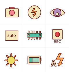 Icons Style Photography icons vector image