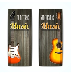 Music Banner Set vector image