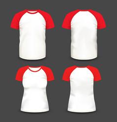 short raglan sleeve realistic volumetric t-shirts vector image