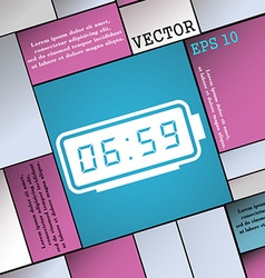 alarm clock icon sign Modern flat style for your vector image