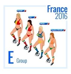 European football championship in France Group E vector image vector image