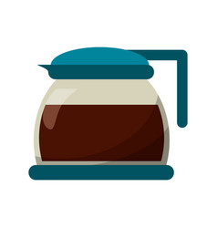 glass pot with coffee image vector image