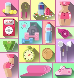 Healthy diet flat style vector image