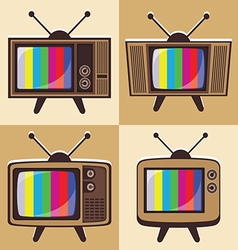 set of classic television 2 vector image