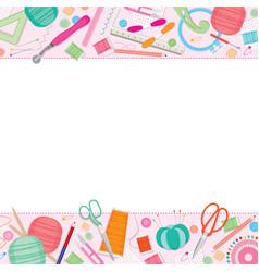 sewing kit frame vector image