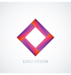 abstract logo square vector image