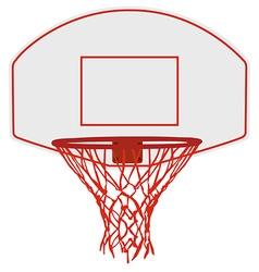 Basketball basket vector image