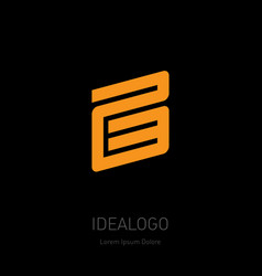 23 - logo or design element or icon with numbers vector image