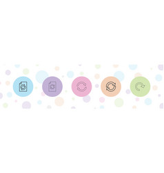 5 reset icons vector
