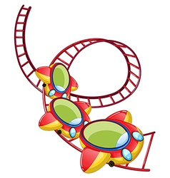 A roller coaster ride vector image