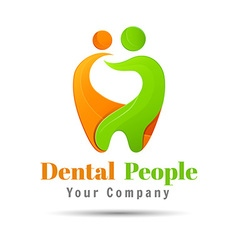 Abstract of teeth Dental logo design Template for vector
