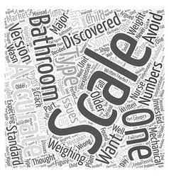 Accurate bathroom scales Word Cloud Concept vector