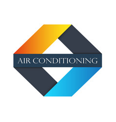 Air conditioning sign vector