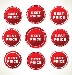 best price red sign icon vector image