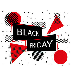 black friday sale banner black friday inscription vector image