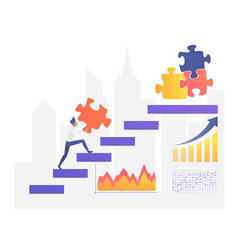 Business growth flat vector
