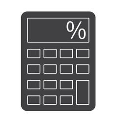 Calculator silhouette vector