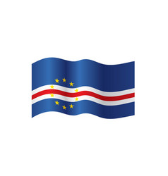 cape verde flag vector image