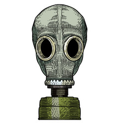 Cartoon image of gas mask vector