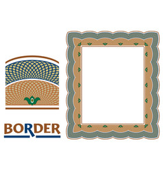 Certificates and awards borders - tiled frame in vector