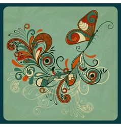 Concept butterfly and abstract branch vector