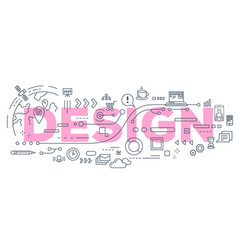 creative of design word lettering vector image