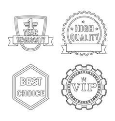 design emblem and badge symbol vector image