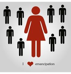 Emancipation concept vector image