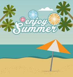 Enjoy Summer background with text vector