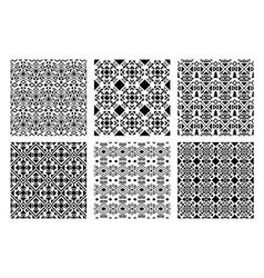 ethnic monochrome patterns set vector image