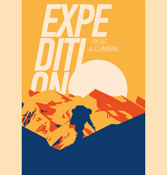 extreme outdoor adventure poster high mountains vector image