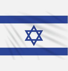 Flag israel swaying in wind realistic vector