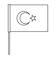 Flag of Turkey icon outline style vector
