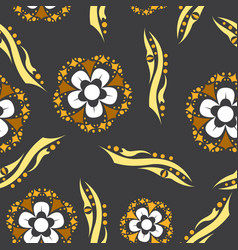 Floral pattern vintage decorative elements vector