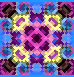 Geometric abstract symmetric pattern in pixel art vector