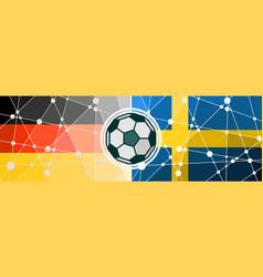 germany vs sweden vector image